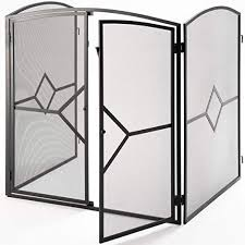 fireplace screen with doors