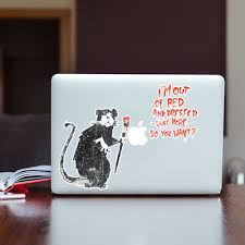 Banksy Sticker Decal Vinyl Graffiti Street Art Car Paparazzi Rat Camera Photo