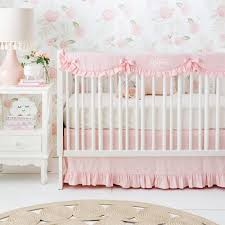 blush pink crib bedding set washed