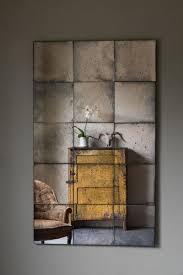 rough luxe antiqued mirror interior