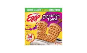 kelloggs eggo cinnamon toast waffles 25 8oz