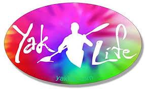 Amazon Com American Vinyl Licensed Oval Tie Dye Yak Life Sticker Kayak Kayaking Kayaker Paddle Automotive
