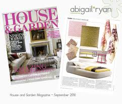 abigail*ryan in House and Garden Magazine... | blogged over … |  abigail*ryan | Flickr