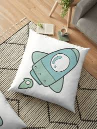 Space Themed Nursery Space Themed Kids Room Floor Pillow By Francescaxmolly Redbubble