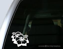 Hibiscus Flower Vinyl Sticker Car Window Decal Bumper Sticker Laptop Decal Ebay