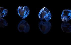 wallpaper blue stone hearts sapphire