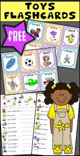 free toys flashcards worksheet