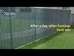 How To Install A Chain Link Fence In Broward County Youtube