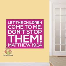 Sunday School Decal Matthew 19 14 Wall Scripture Decal Kids Etsy