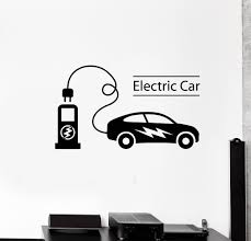Vinyl Wall Decal Electric Car Electrical Charging Station Vehicle Stickers Mural Ig5368 Electric Car Vinyl Wall Decals Wall Decals