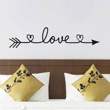 Wall Decals And Stickers New Design Love Arrow Wall Decals Vinyl Removable Bedroom Wall Stickers Home Decor Living Room Wall Decals And Stickers