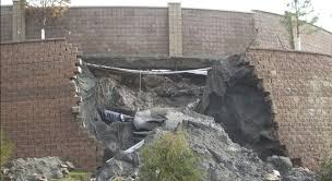 retaining wall distress and failures