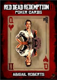 RDR2 poker serie no 14 - Abigail Roberts - Queen of Hearts. | Red ...