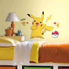 Roommates Pokemon Pikachu Peel And Stick Wall Decals Rmk2536gm Multi Amazon Com