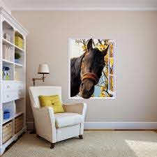 Free Shipping 3d Horse Out Of Window Wall Decal Art Photo Waterproof Removable Wallpaper Forest Mural Sticker Vinyl Home Decor Wall Stickers Aliexpress