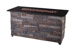 hampton bay rectangular outdoor fire table