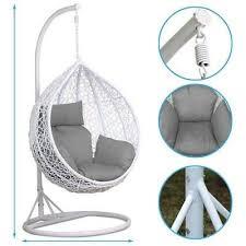 rattan swing chair patio garden wicker
