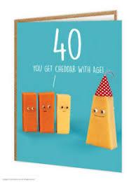 40th birthday card funny witty edy