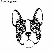 Langru 13 1 16 7cm French Bulldog Sugar Skull Frenchie Dog Vinyl Decal Car Stickers Accessories Jdm Car Stickers Aliexpress
