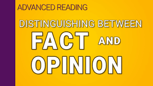 Distinguishing fact from opinion - YouTube