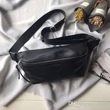 designer leather waist bags classic