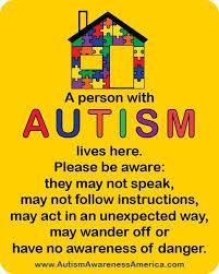Autism Safety Home Decal Sticker Autism Awareness America