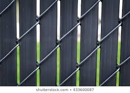 Black Chain Link Fence Privacy Slats Backgrounds Textures Stock Image 433600087