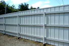 Metal Fence Post With Matching Extra Corrugated Metal Fence Metal Fence Panels Metal Fence Posts