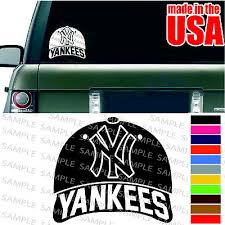 Auto Parts Accessories Many Colors New York Yankees Car Stickers Or On Anything Smaitarafah Sch Id