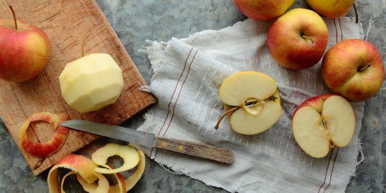 cascas de maçã