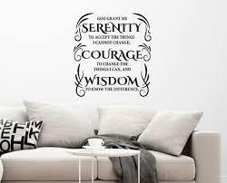 Serenity Prayer Courage Wisdom Inspirational Christian Wall Decal Wall Art Ebay