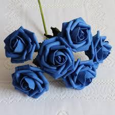 72 الزهور الزرقاء الملكية الزهور وهمية الزهور السائبة للزينة
