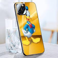 Ốp kính cường lực cho điện thoại iPhone 11 Pro - vịt donald marvel ...
