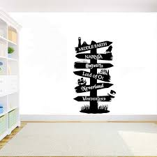 Children S Room Decoration Stickers Quote Road Sign Vinyl Wall Decal Home Decoration Diy Wall Sticker G762 Wall Stickers Aliexpress