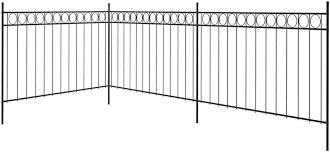 Tidyard Fence Panels With Steel Poles 6 X 1 3 M Black 6 X 2 M Black Amazon Co Uk Garden Outdoors