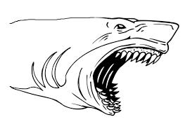 Tranh cho bé tô màu con cá mập 3 « in hình này