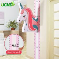 Best Price 6506ba Magnetic Kids Height Growth Chart Unicorn Children Height Chart Wall Decal Measuring Ruler For Baby Children Room Wall Sticker Cicig Co