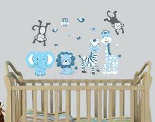 Boys Jungle Nursery Wall Decals Vinyl Art For Sale Ebay