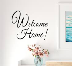 Vinyl Wall Decal Inscription Welcome Home Family House Decor Stickers Wallstickers4you