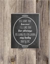 Instant Download 8x10 I Ll Love You Forever I Ll Like You For Always As Long As I M Living My Baby You Ll Be Nursery Print Chalkboard Print 2530962 Weddbook