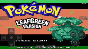 Pokemoon leaf green version Free GBA Classic Game for Android ...