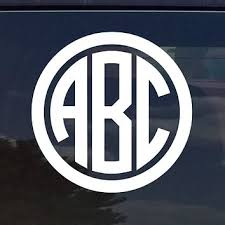 Best Monogrammed Car Decals Stickers Products On Wanelo