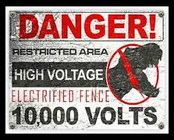 Danger Restricted Area Electric Fence Jurassic Park Metal Sign Wall Plaque 1658 Ebay