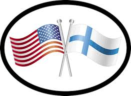 Scandinavianshoppe Com Finland Usa Friendship Flags Car Decal 1328