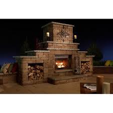 outdoor fireplace wood burning insert