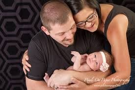 Pixels on Paper photographs adopted newborn Ivy Myers with her parent and  again at 6 months | pixelsonpaperblog.com