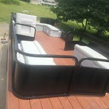 Pontoon Restoration Almost Complete Trex Flooring New Playpen Paint And Seat Reupholstering Boa Pontoon Boat Seats Fishing Pontoon Pontoon Boat Accessories