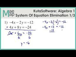 kuta algebra 1 system of