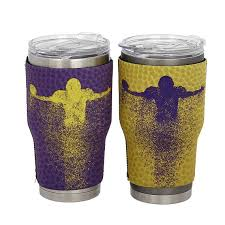Lsu Tigers Cup Cover Thermos Sleeve 2 Sided Sportfish Reel Covers
