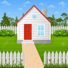 Vector Illustration Of Cartoon Wooden House Inside The Fence Royalty Free Cliparts Vectors And Stock Illustration Image 101004156